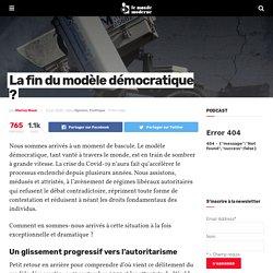 La fin du modèle démocratique ?