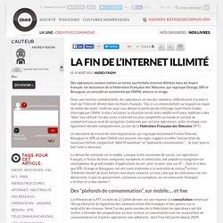 La fin de l'Internet illimité