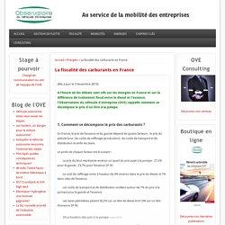 La fiscalité des carburants en France