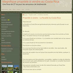 La fiscalité au Costa Rica