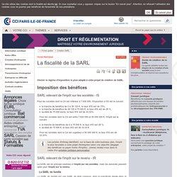 La fiscalité de la SARL