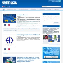 Robert Schuman Foundation - Think tank on Europe
