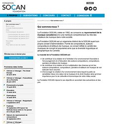La Fondation SOCAN