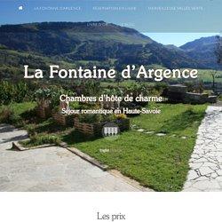 Vallée Verte Haute-SAvoie La Fontaine d'Argence (Habère Poche)