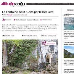 La Fontaine de St-Gens par le Beaucet