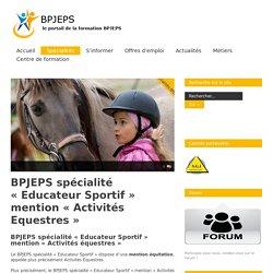 La formation BPJEPS Equitation