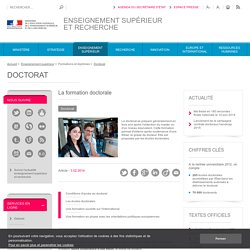 Le doctorat - textes officiels