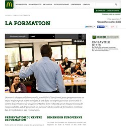 LA FORMATION EN RESTAURANT