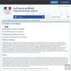 La France et le Brésil - La France au Brésil