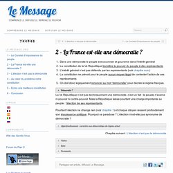 2 – La France est-elle une démocratie ?
