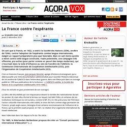 La France contre l'espéranto