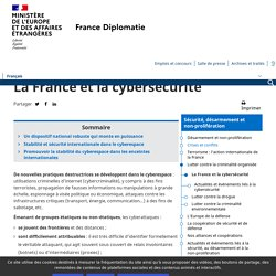 La France et la cybersécurité - Ministère de l'Europe et des Affaires étrangères