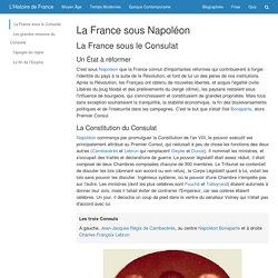 La France sous Napoléon