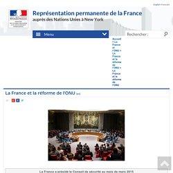 La France et la réforme de l'ONU - France ONU