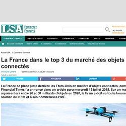 La France dans le top 3 du marché des objets...