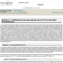 La fraude à la TVA - Nicolas Mathe
