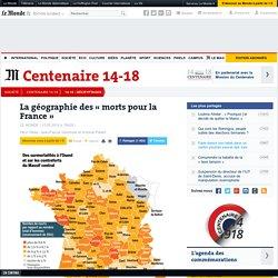 La géographie des « morts pour la France »