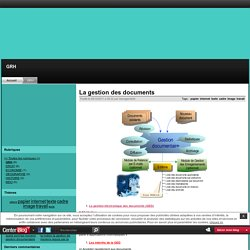 La gestion des documents