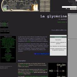 La glycérine