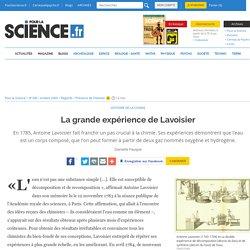 La grande expérience de Lavoisier