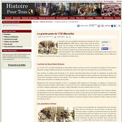La grande peste de 1720 (Marseille)