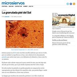 La granulada piel del Sol