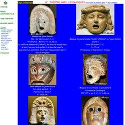 Masques de théâtre dans la Grèce antique
