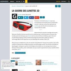 La guerre des lunettes 3D - Gizmodo -