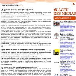 La guerre des radios sur le web -Cross Media Consulting
