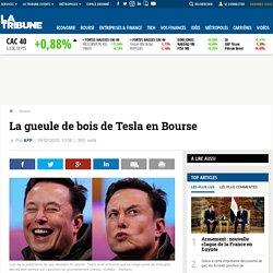 La gueule de bois de Tesla en Bourse