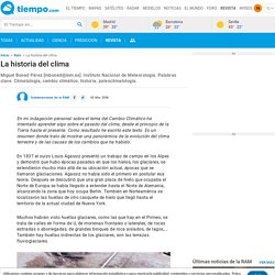 La historia del clima - Revista del Aficionado a la Meteorología