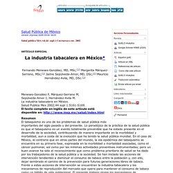 La industria tabacalera en México