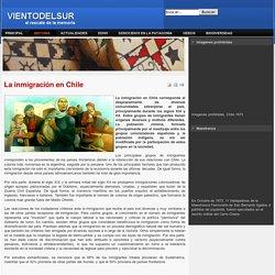 La inmigración en Chile