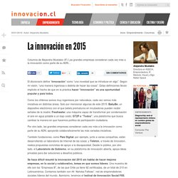La innovación en 2015