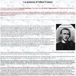 La jeunesse d'Albert Camus