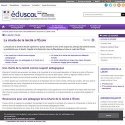 Laïcité : principe et pédagogie - Charte de la laïcité à l'École