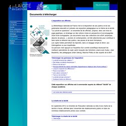 Affiches laïcité à télécharger (BNF)