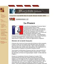 La laïcité en France, histoire de la laïcité en France
