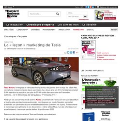"La ""leçon"" marketing de Tesla"