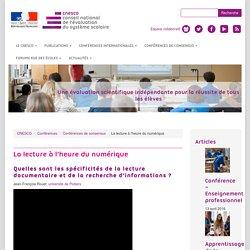 La lecture à l'heure du numérique - Conférence des 16 et 17 mars 2016, à l'ENS de Lyon