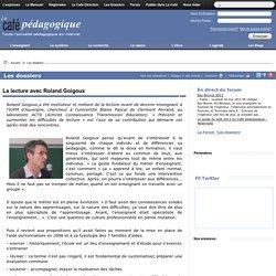 La lecture avec Roland Goigoux