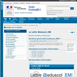 La Lettre @eduscol_EMI