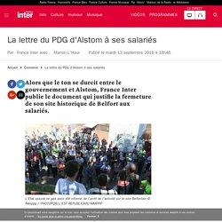 La lettre du PDG d'Alstom à ses salariés