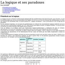 La logique et ses paradoxes