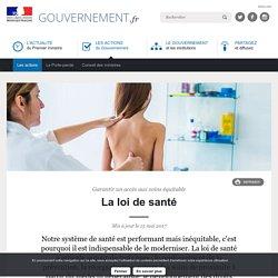 Présentation loi de santé par le site du gouvernement