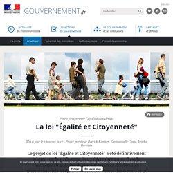 """La loi """"Égalité et Citoyenneté"""""""