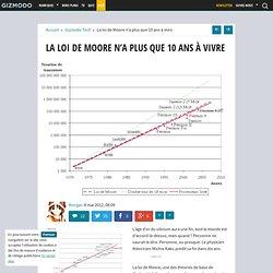 La loi de Moore n'a plus que 10 ans à vivre