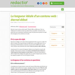 La longueur idéale d'un contenu web
