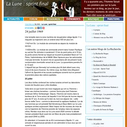 La Lune : sprint final