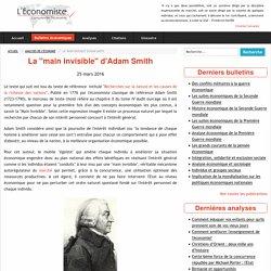 La main invisible Adam Smith